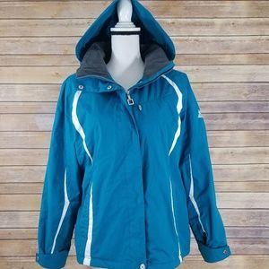 ZeroXposur L LARGE Blue White Coat Jacket